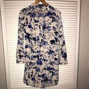 Banana Republic floral work shirt dress